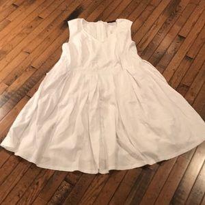 Jessica London White Sleeveless Dress